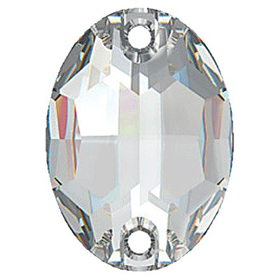 Swarovski 3210 Oval Sew On Flatback Stone - Crystal