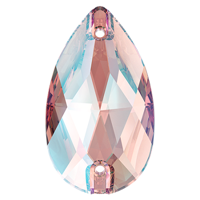 Swarovski 3230 Pear (Drop)  Sew On Stone - Light Rose Shimmer