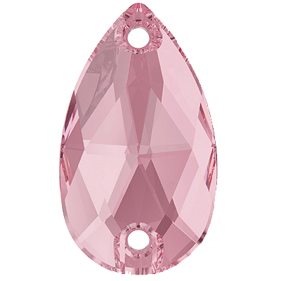 Swarovski 3230 Pear (Drop)  Sew On Stone - Light Rose