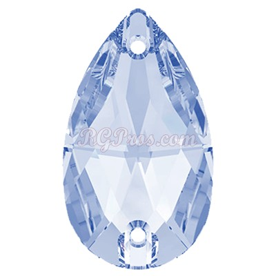 Swarovski 3230 Pear (Drop)  Sew On Stone - Light Sapphire