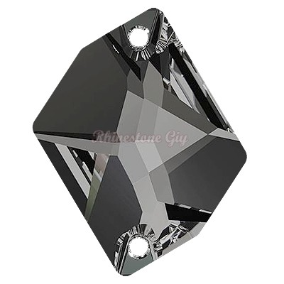 Swarovski 3265 Cosmic Sew On Flatback - Black Diamond