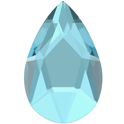 Swarovski 2303 Jewel Cut Pear Flatback - Aquamarine