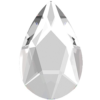 Swarovski 2303 Jewel Cut Pear Flatback - Crystal