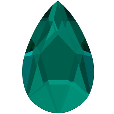Swarovski 2303 Jewel Cut Pear Flatback - Emerald