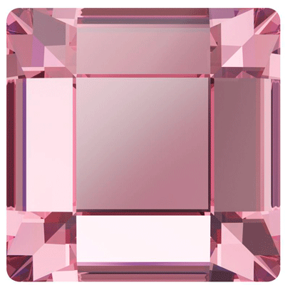 Swarovski 2400 Square Flatback - Light Rose