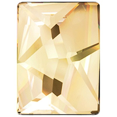 Swarovski 2520 Cosmic Rectangle Flatback - Crystal Golden Shadow